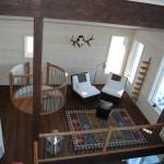 Invändig balkong på plan 2